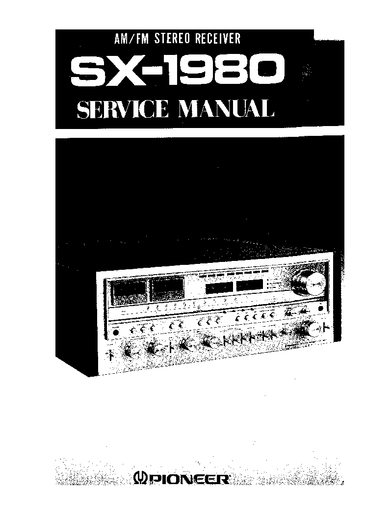 PIONEER SX-1980 SM 2 service manual (1st page)