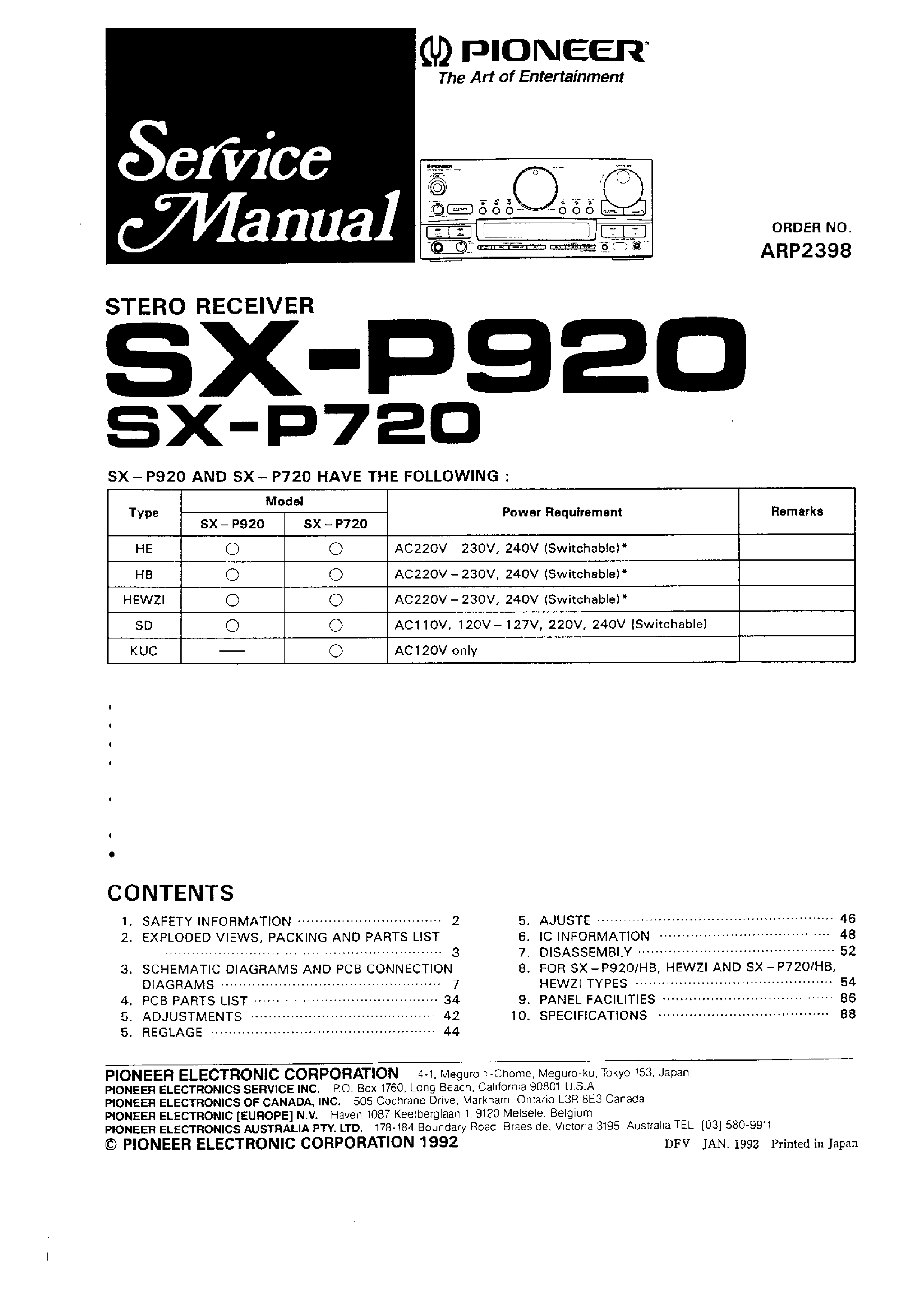 pioneer vsx s510 k vsx s310 k s sm service manual download rh elektrotanya com Vizio Service Manuals Ruud Service Manuals