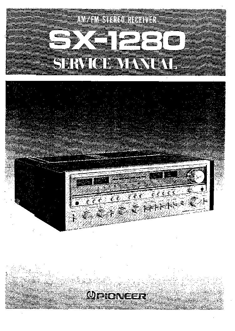 Pioneer Sx1280 Service Manual Download  Schematics  Eeprom