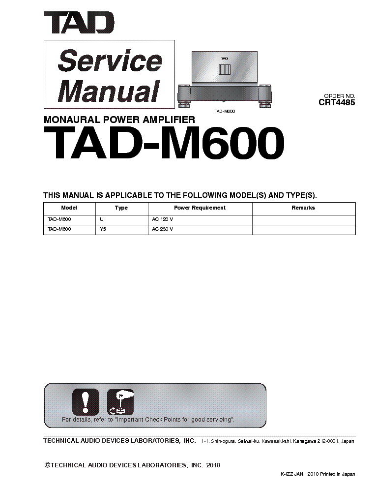 pioneer_tad m600_sm.pdf_1 pioneer vsx 305 wiring diagram pioneer stereo wiring, pioneer pioneer vsx 305 wiring diagram at reclaimingppi.co