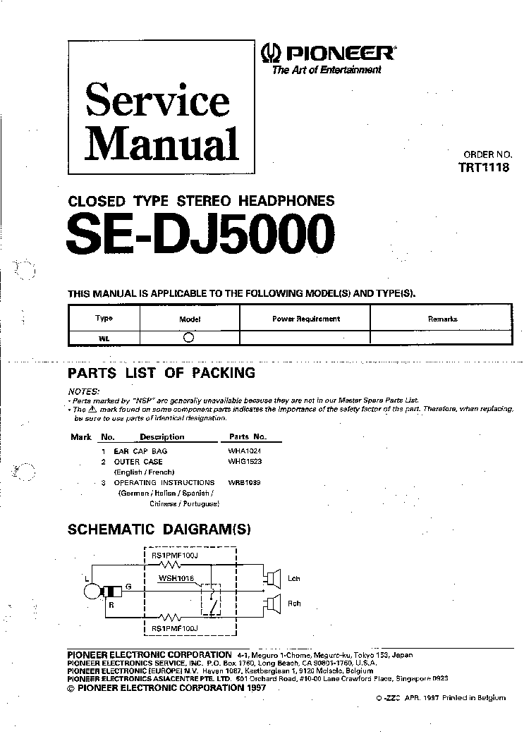 pioneer_trt1118_se_dj5000_116_closed_headphone_1997_sm.pdf_1 pioneer vsx 305 wiring diagram pioneer parts diagram, pioneer pioneer vsx 305 wiring diagram at bayanpartner.co