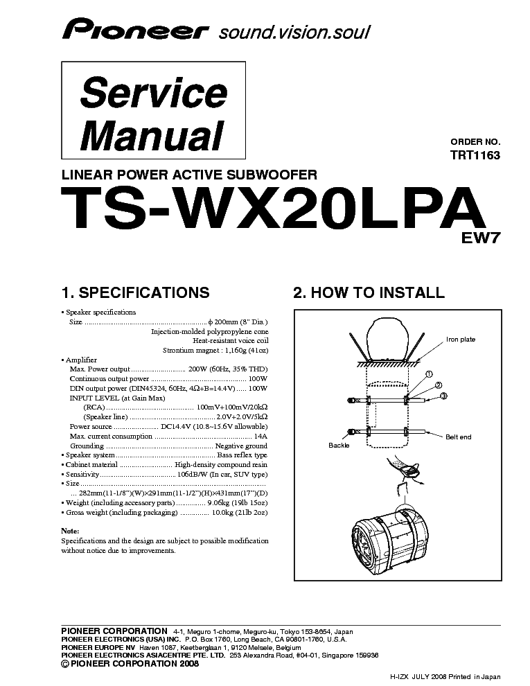 pioneer_ts wx20lpa.pdf_1 pioneer ts wx75a wiring harness wiring wiring diagram schematic pioneer ts-wx75a wiring harness at panicattacktreatment.co