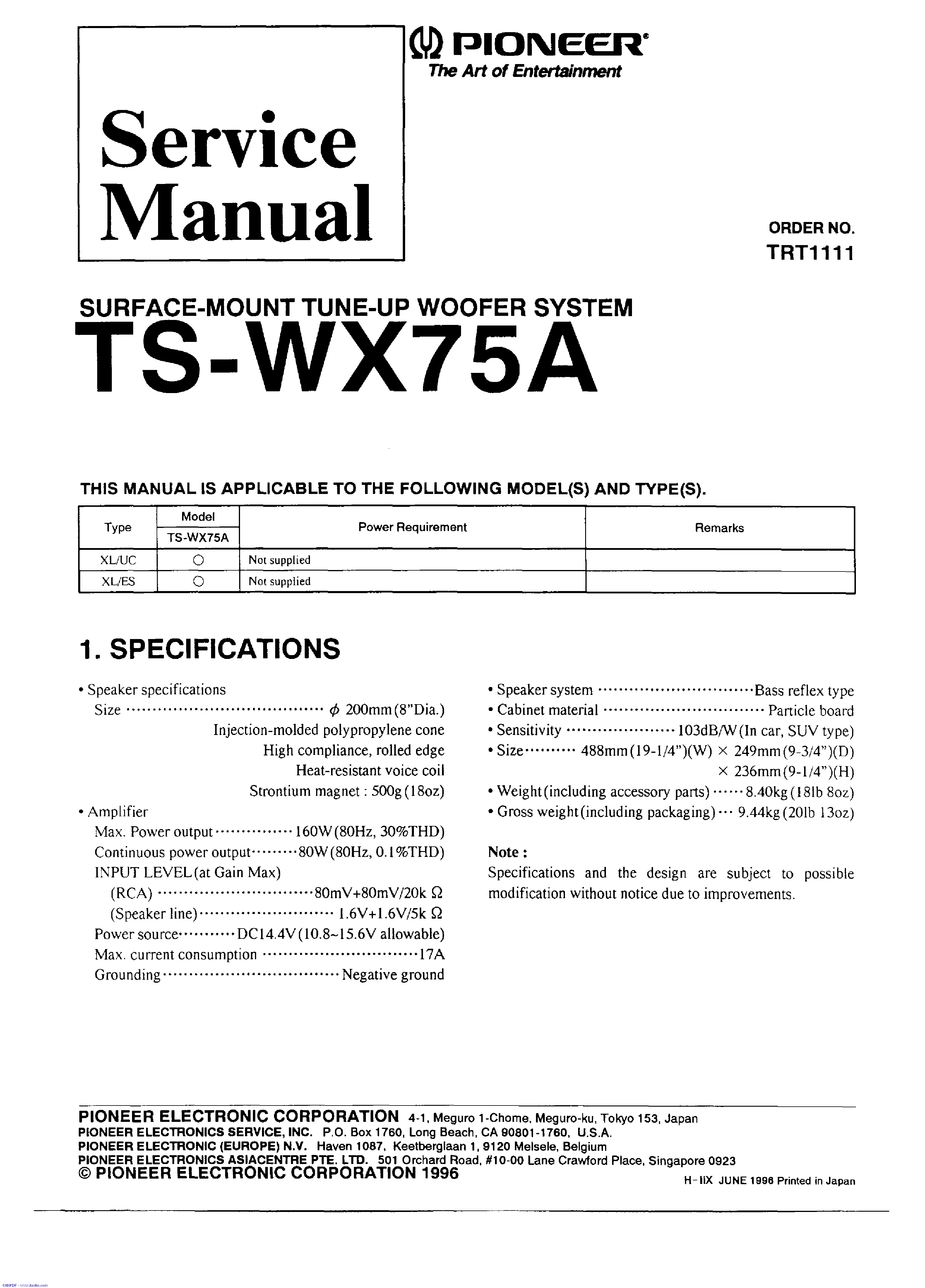 pioneer_ts wx75a.pdf_1 pioneer ts wx75a service manual download, schematics, eeprom pioneer ts-wx75a wiring harness at panicattacktreatment.co