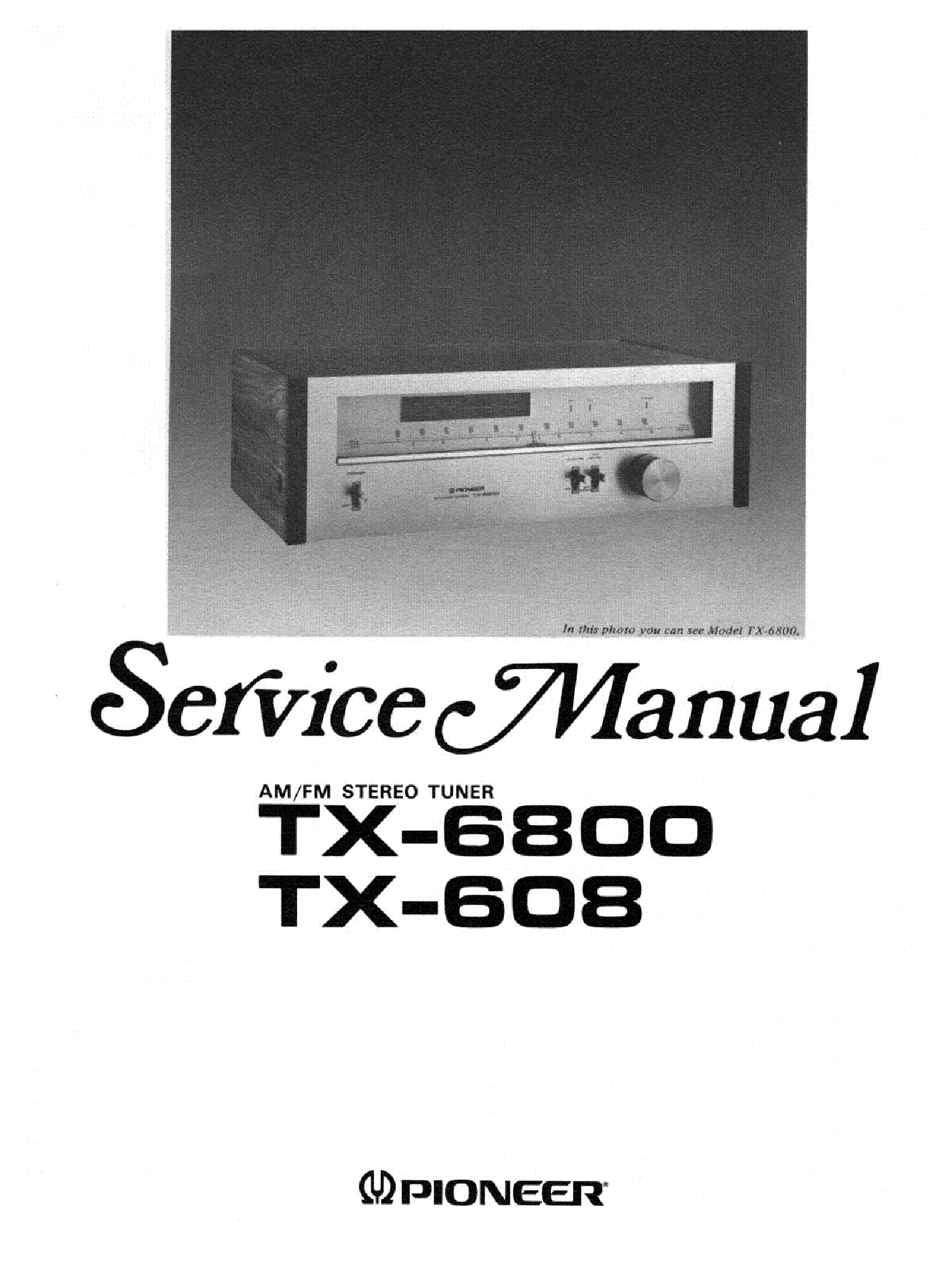 PIONEER TX-608-6800 service manual (2nd page)