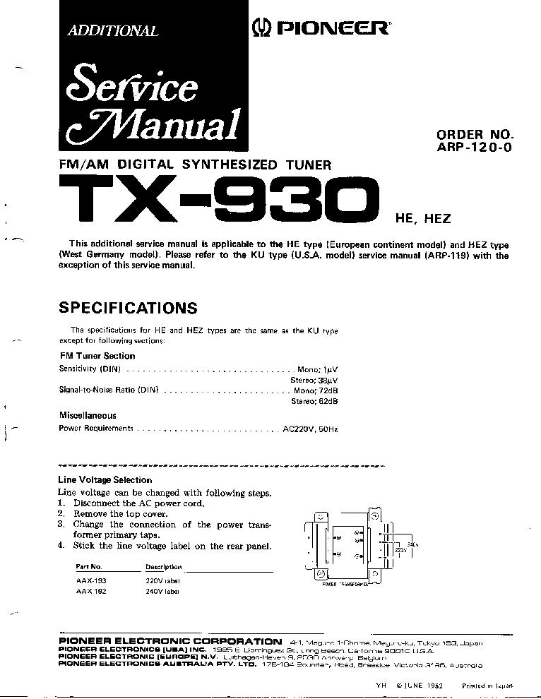 pioneer_tx 930_sm.pdf_1 pioneer vsx 305 wiring diagram pioneer parts diagram, pioneer pioneer vsx 305 wiring diagram at readyjetset.co