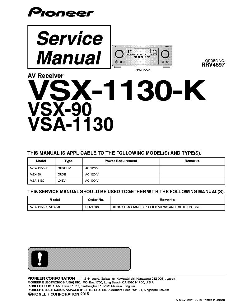 Pioneer vsx 930 pdf editor