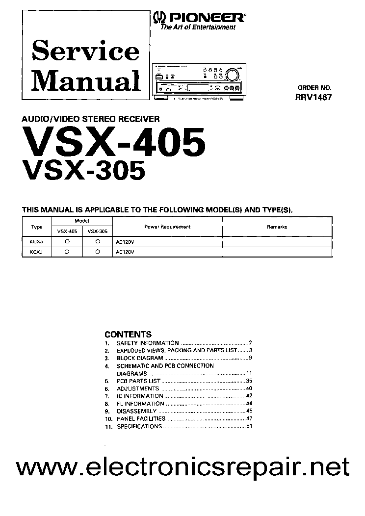 pioneer_vsx 305_405.pdf_1 pioneer vsx 305 405 service manual download, schematics, eeprom pioneer vsx 305 wiring diagram at couponss.co