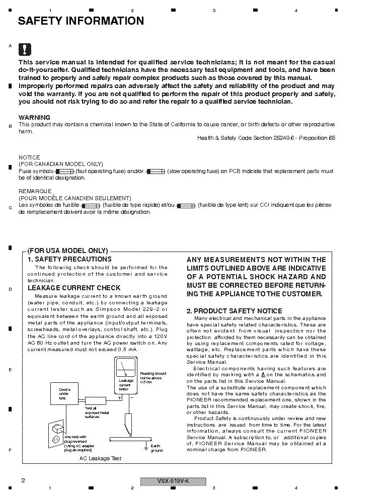 pioneer vsx 519v k manual