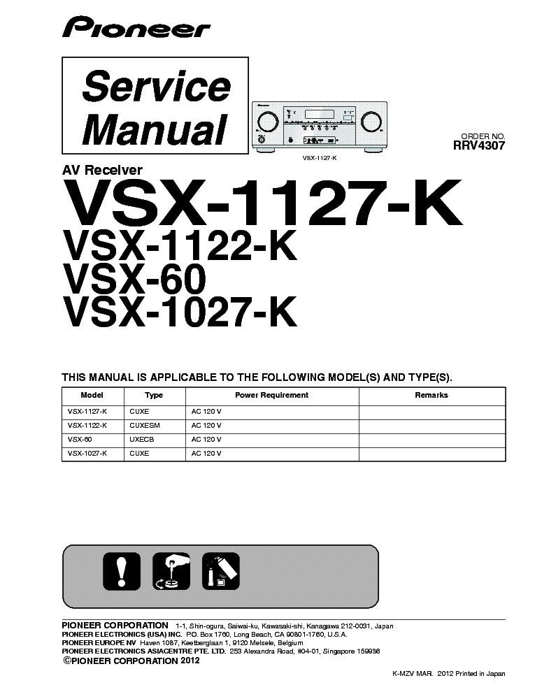 pioneer vsx 60 service manual download schematics eeprom repair rh elektrotanya com Pioneer VSX 1123 K pioneer vsx-1122-k specs