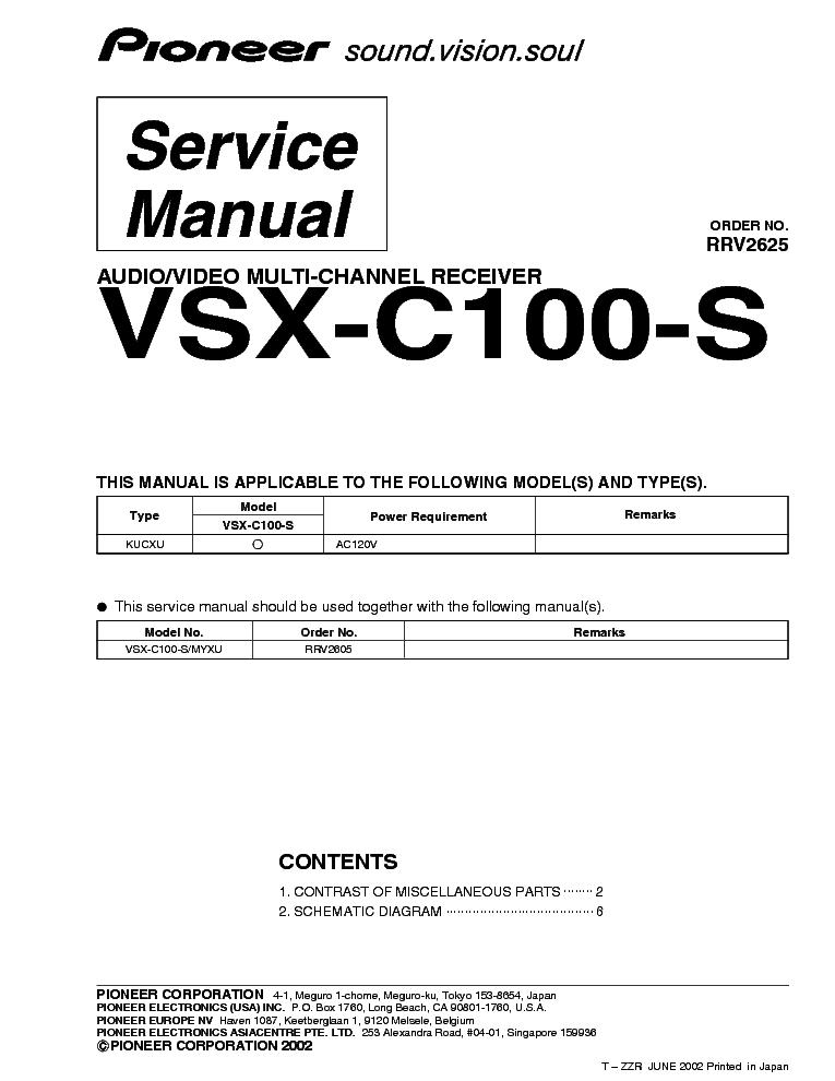 Ресивер Vsx C100 Инструкция