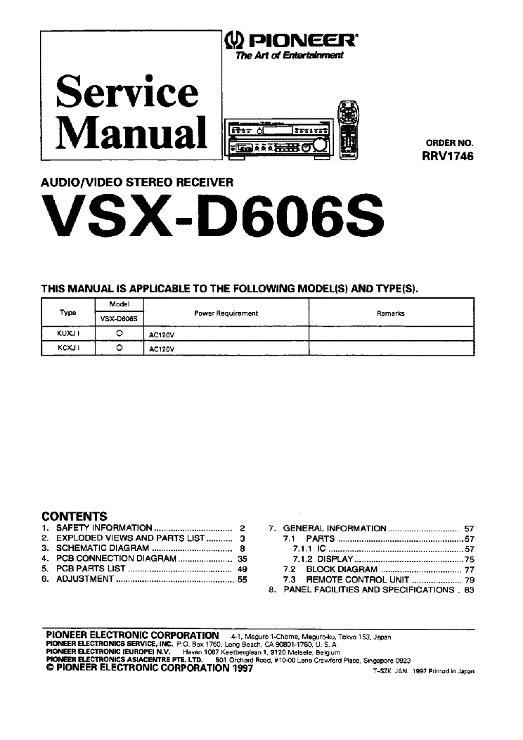 Pioneer vsx d606s sm service manual download schematics eeprom pioneer vsx d606s sm service manual 1st page asfbconference2016 Choice Image