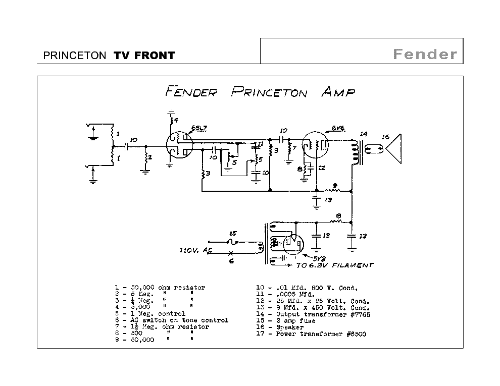PRINCETON TV FRONT SCH Service Manual download, schematics, eeprom