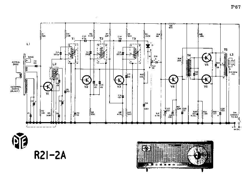 Pleasant Pye R21 2A Table 6V Transistor Radio Sm Service Manual Download Wiring Database Gramgelartorg