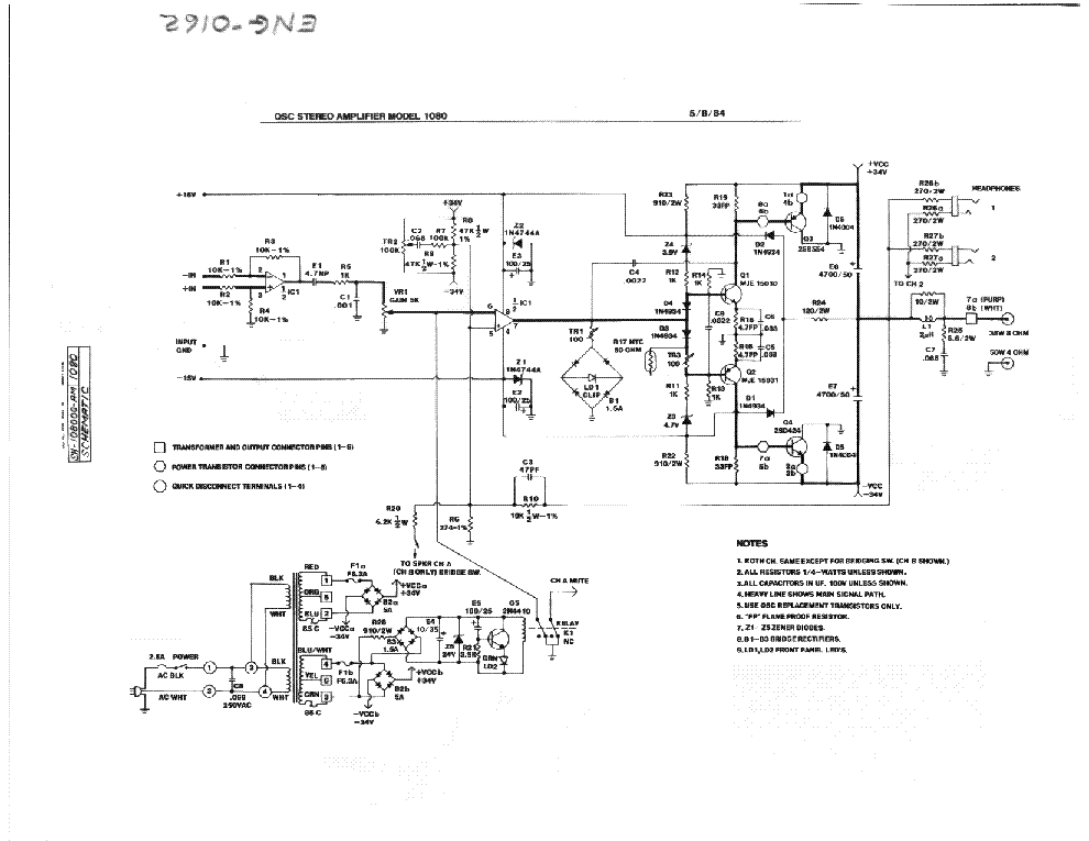 qsc_1080.pdf_1 Qsc Plx Schematic Diagram on isa 300ti, pl340 power supply, gx 3 amplifier, k-12 ksub, 1400 power amp, k10 speaker, usa 900 amplifier,
