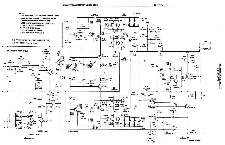 Qsc 3500 Service Manual Download  Schematics  Eeprom