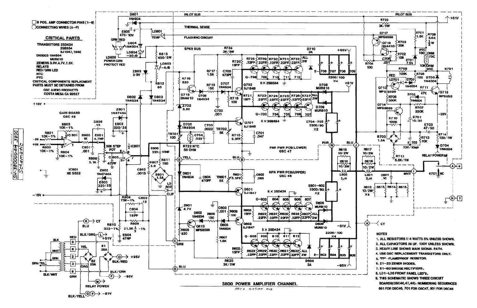qsc 3800 service manual download  schematics  eeprom