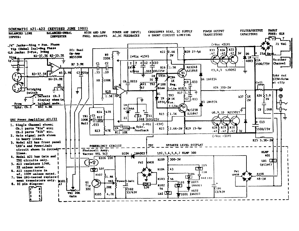 qsc_a21-22.pdf_1 Qsc Plx Schematic Diagram on isa 300ti, pl340 power supply, gx 3 amplifier, k-12 ksub, 1400 power amp, k10 speaker, usa 900 amplifier,