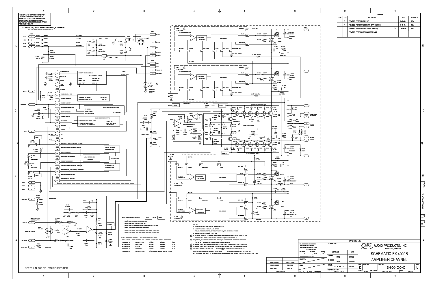 qsc_ex-4000b_sch.pdf_1 Qsc Plx Schematic Diagram on isa 300ti, pl340 power supply, gx 3 amplifier, k-12 ksub, 1400 power amp, k10 speaker, usa 900 amplifier,