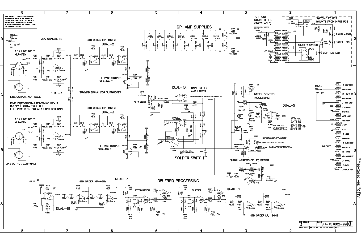qsc_hpr151i.pdf_1 Qsc Plx Schematic Diagram on isa 300ti, pl340 power supply, gx 3 amplifier, k-12 ksub, 1400 power amp, k10 speaker, usa 900 amplifier,