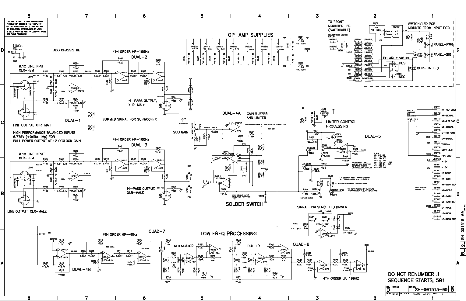 qsc_hpr151w.pdf_1 Qsc Plx Schematic Diagram on isa 300ti, pl340 power supply, gx 3 amplifier, k-12 ksub, 1400 power amp, k10 speaker, usa 900 amplifier,