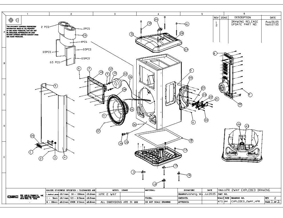 qsc_hpr152f_exploded_sch.pdf_1 Qsc Plx Schematic Diagram on isa 300ti, pl340 power supply, gx 3 amplifier, k-12 ksub, 1400 power amp, k10 speaker, usa 900 amplifier,
