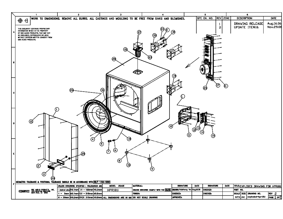 qsc_hrp181i_exploded_sch.pdf_1 Qsc Plx Schematic Diagram on isa 300ti, pl340 power supply, gx 3 amplifier, k-12 ksub, 1400 power amp, k10 speaker, usa 900 amplifier,