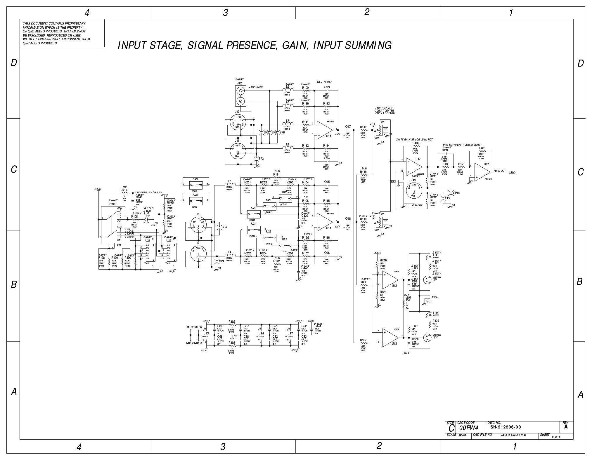 Qsc Kw122 Schematics Service Manual Download  Schematics