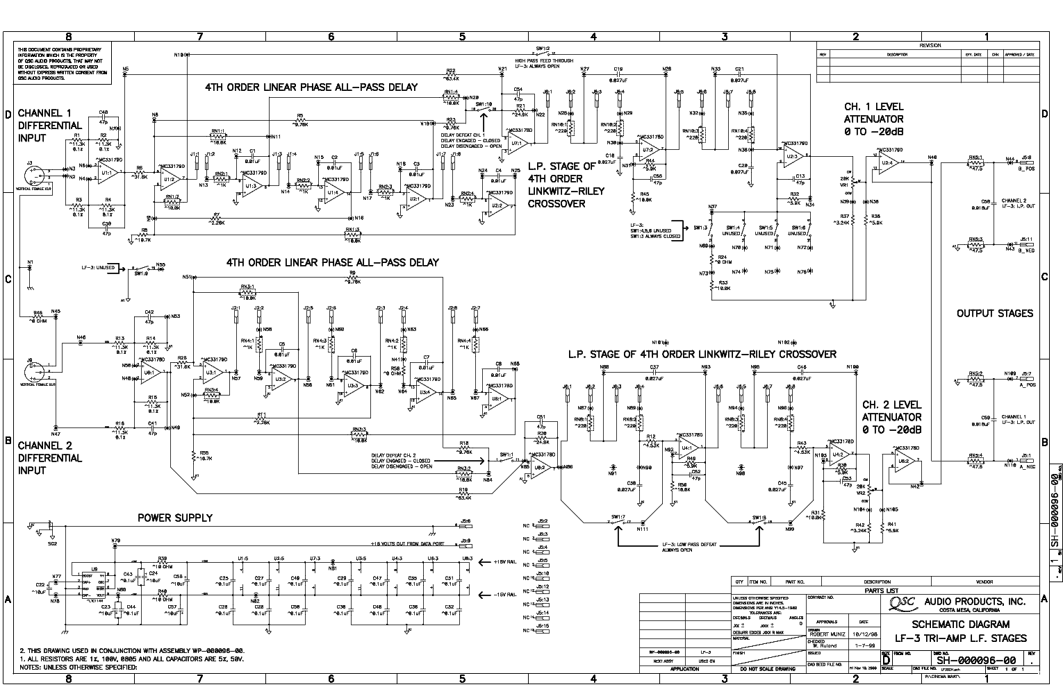 qsc_lf-3_sch.pdf_1 Qsc Plx Schematic Diagram on isa 300ti, pl340 power supply, gx 3 amplifier, k-12 ksub, 1400 power amp, k10 speaker, usa 900 amplifier,
