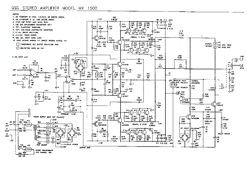 qsc mx1500 service manual download  schematics  eeprom