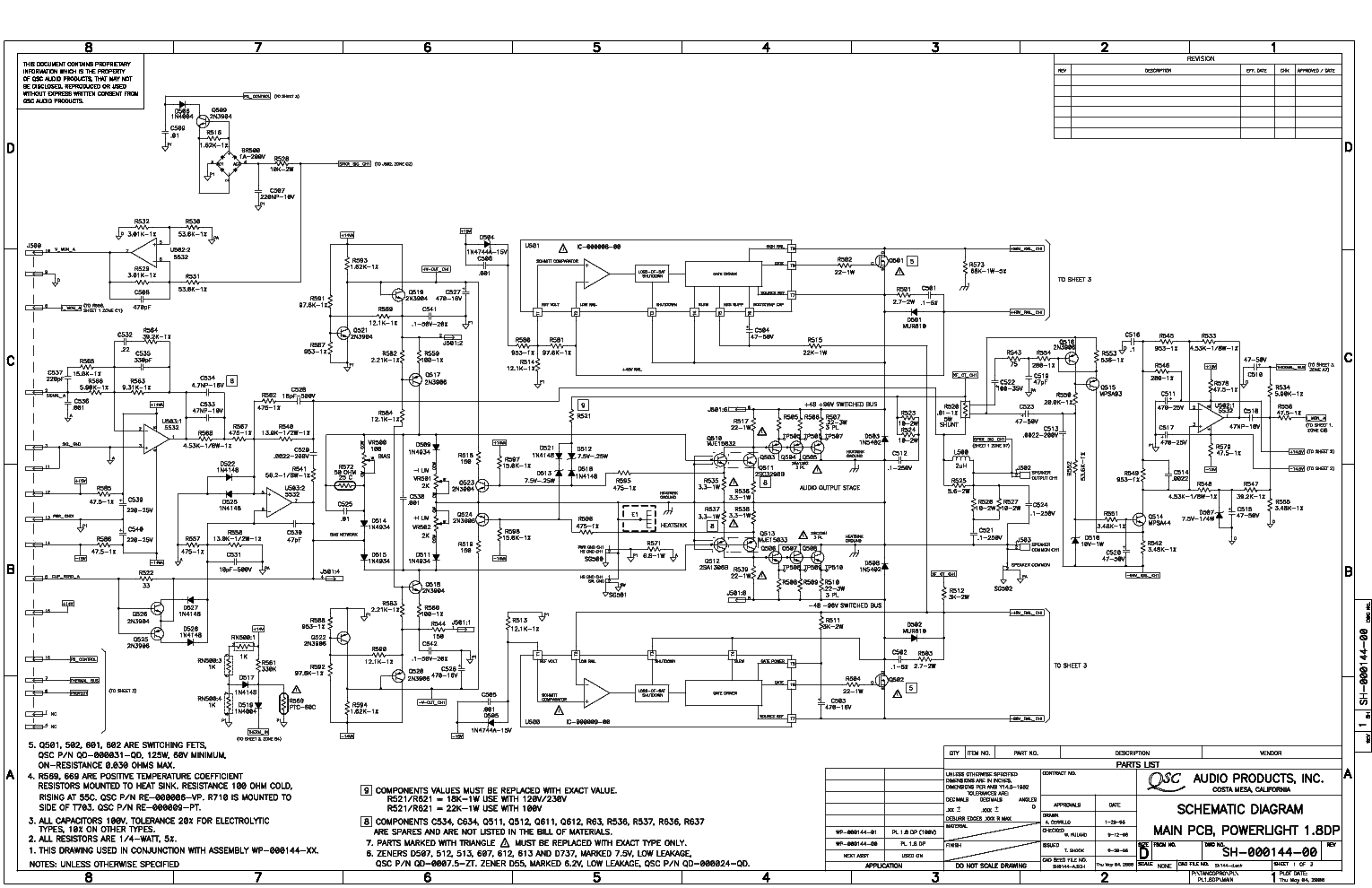 qsc_pl18.pdf_1 Qsc Plx Schematic Diagram on isa 300ti, pl340 power supply, gx 3 amplifier, k-12 ksub, 1400 power amp, k10 speaker, usa 900 amplifier,