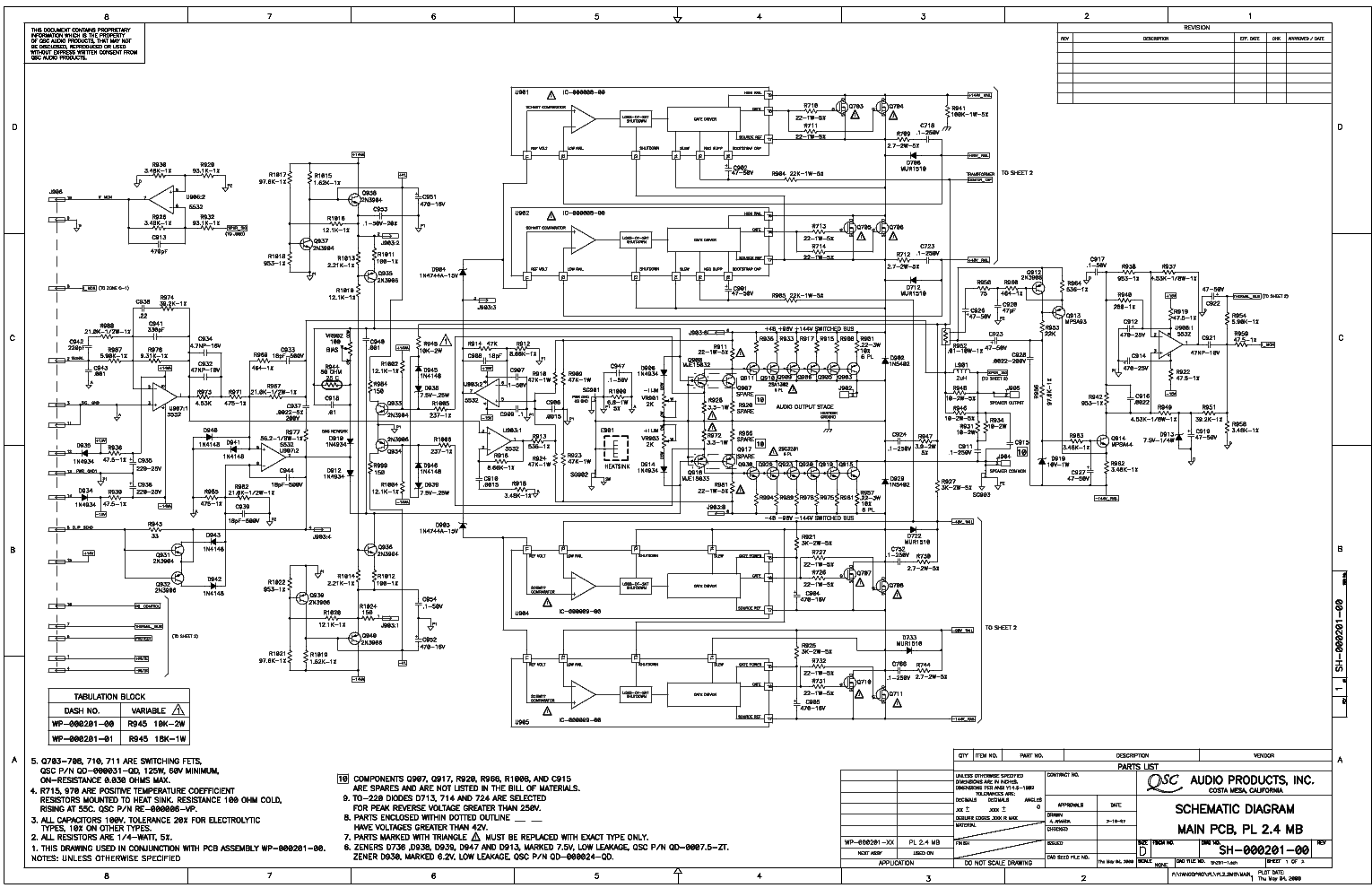 qsc_pl24.pdf_1 Qsc Plx Schematic Diagram on isa 300ti, pl340 power supply, gx 3 amplifier, k-12 ksub, 1400 power amp, k10 speaker, usa 900 amplifier,