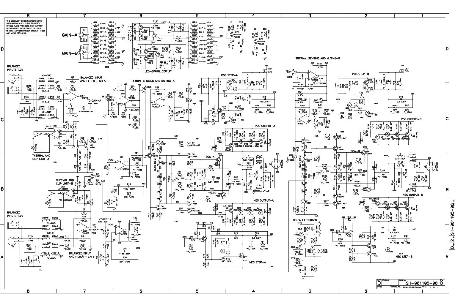 isa 300ti, pl340 power supply, gx 3 amplifier, k-12 ksub, 1400 power amp, k10 speaker, usa 900 amplifier, on qsc plx schematic diagram