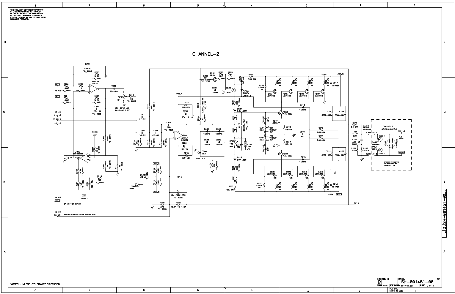 QSC RMX1450 service manual (2nd page)