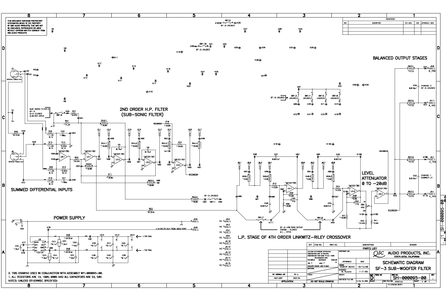 qsc_sf-3_sch.pdf_1 Qsc Plx Schematic Diagram on isa 300ti, pl340 power supply, gx 3 amplifier, k-12 ksub, 1400 power amp, k10 speaker, usa 900 amplifier,