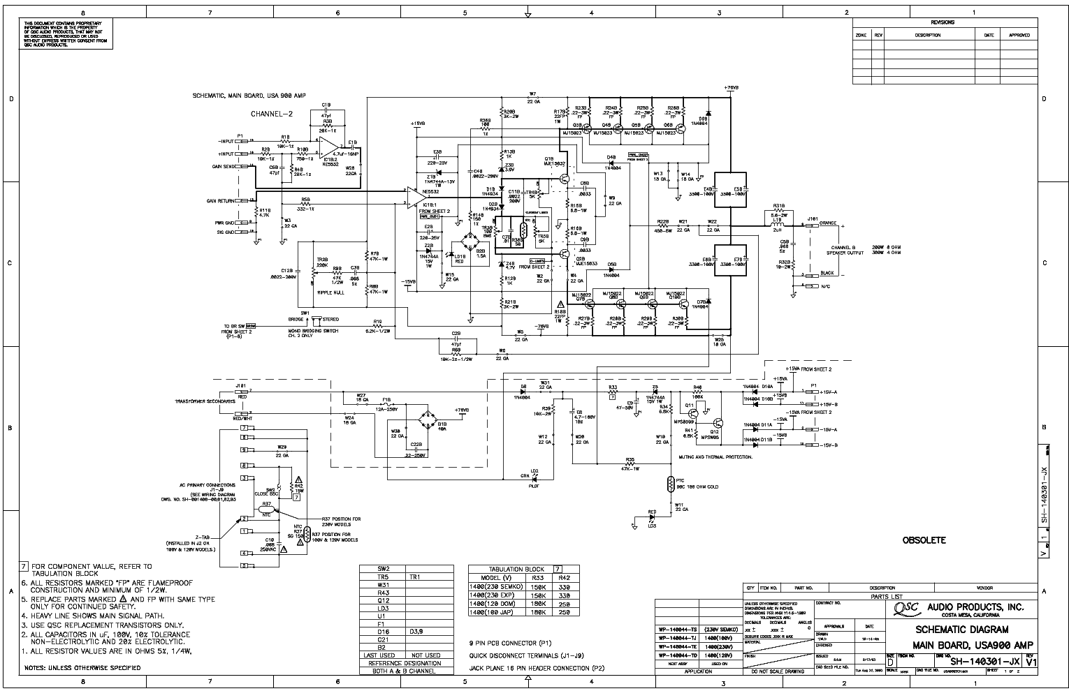 Qsc Power Amplifier Schematic Diagram Plx1104 Service Manual Free Download Schematics Illustration Of