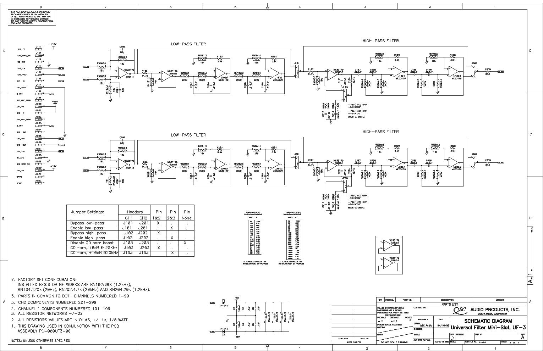 QSC UF-3 SCH service manual (1st page)