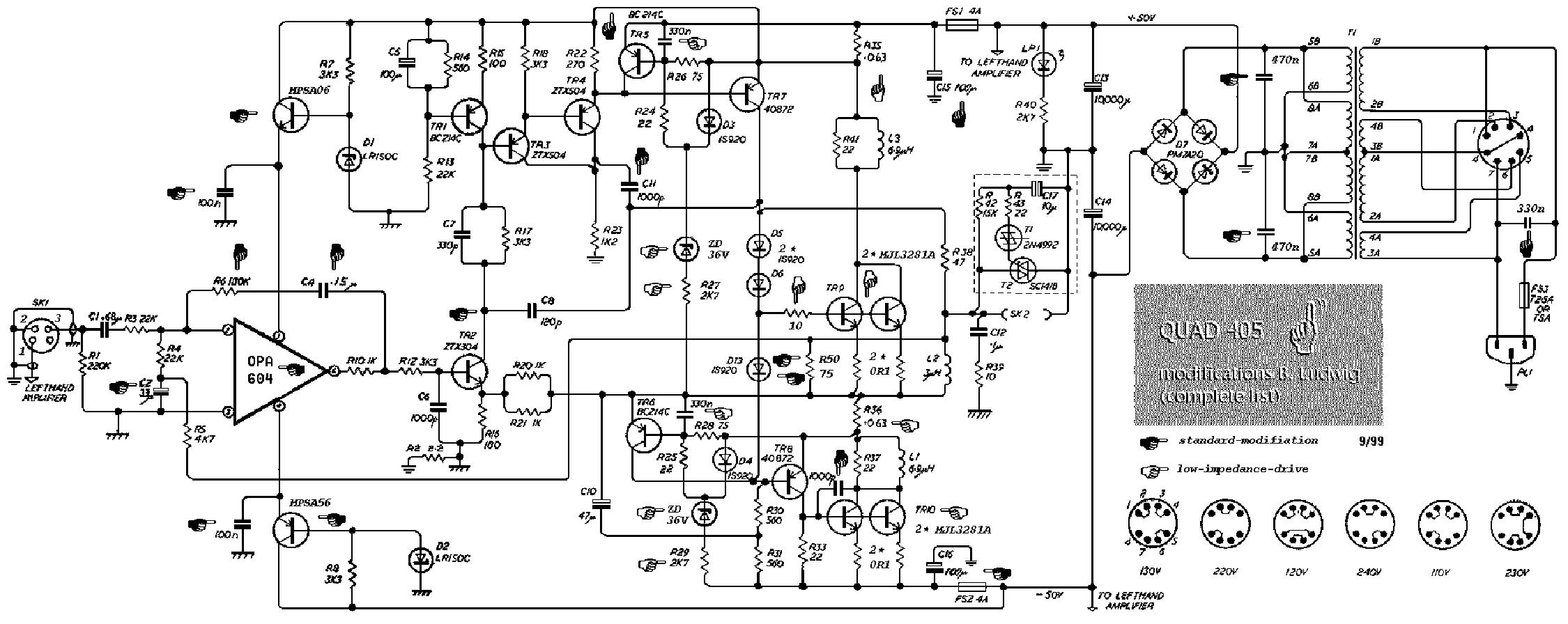 QUAD 405 SCH Service Manual download, schematics, eeprom ... Quad Schematic on
