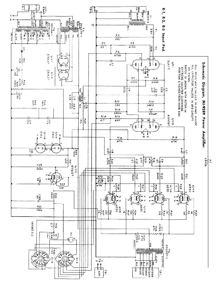rca power amplifier schematic