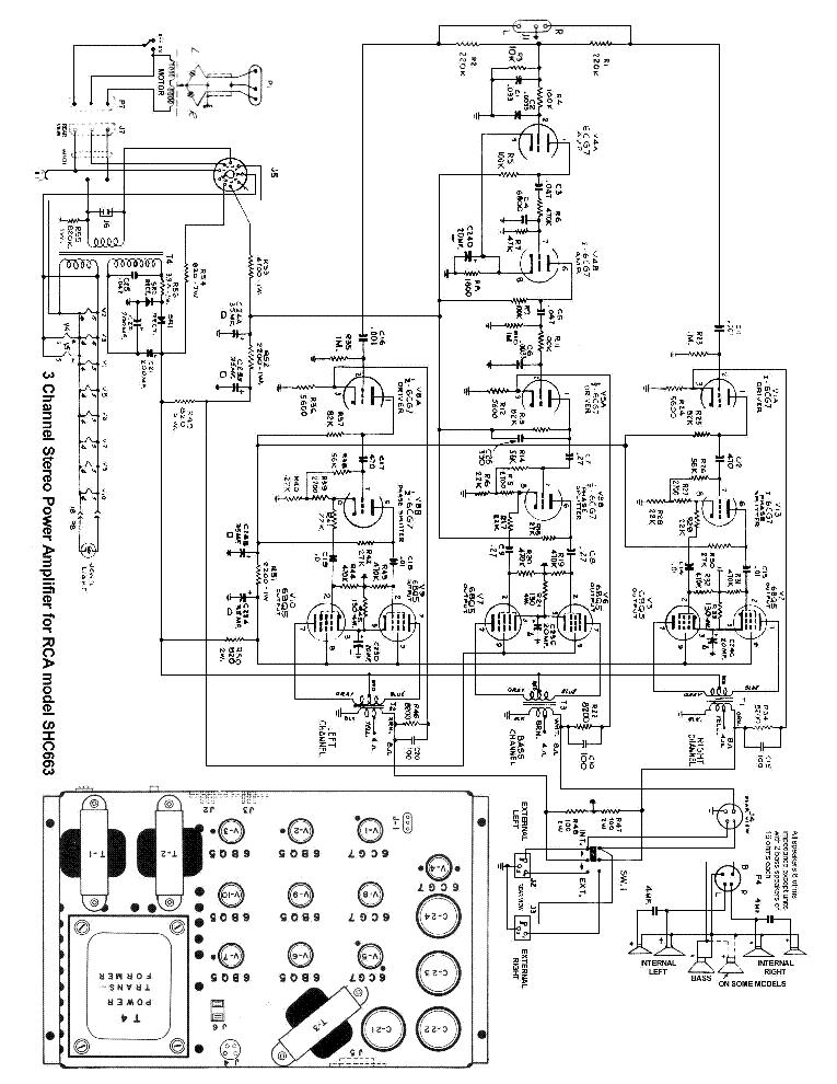 Rca Shc663 Stereo Power Amplifier Sch Service Manual Download