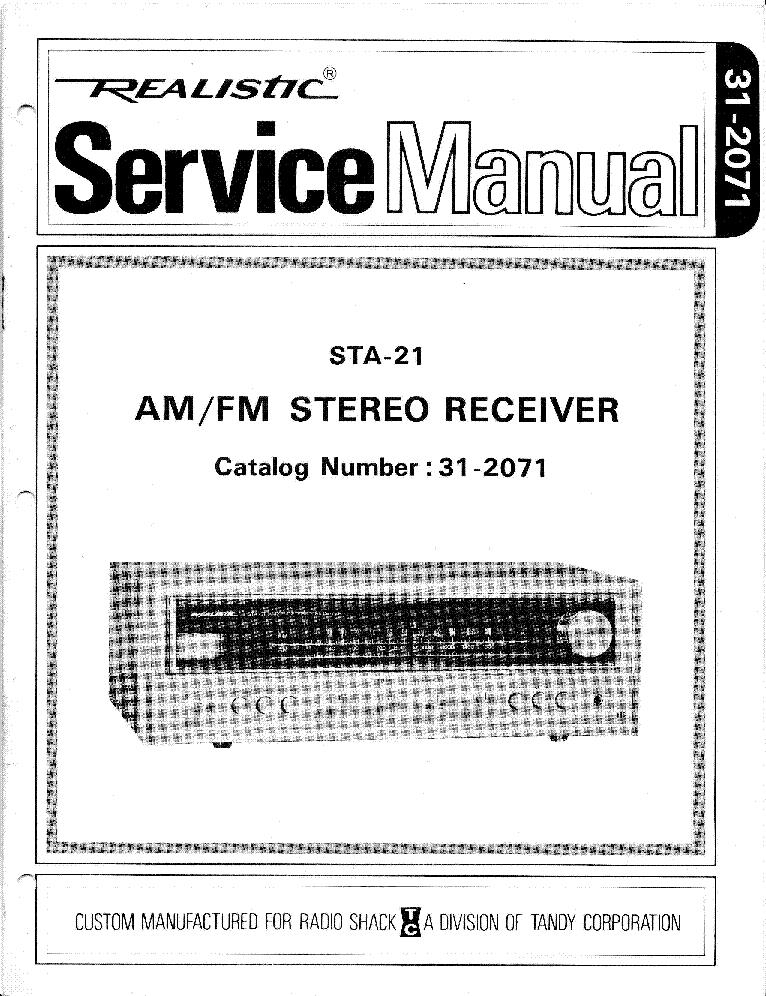 realistic sta 21 service manual download schematics eeprom repair rh elektrotanya com