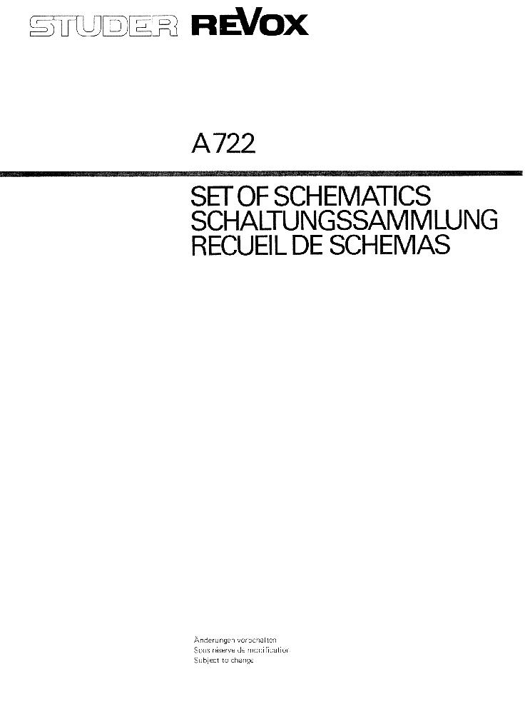 Revox A722 Power Amplifier Set