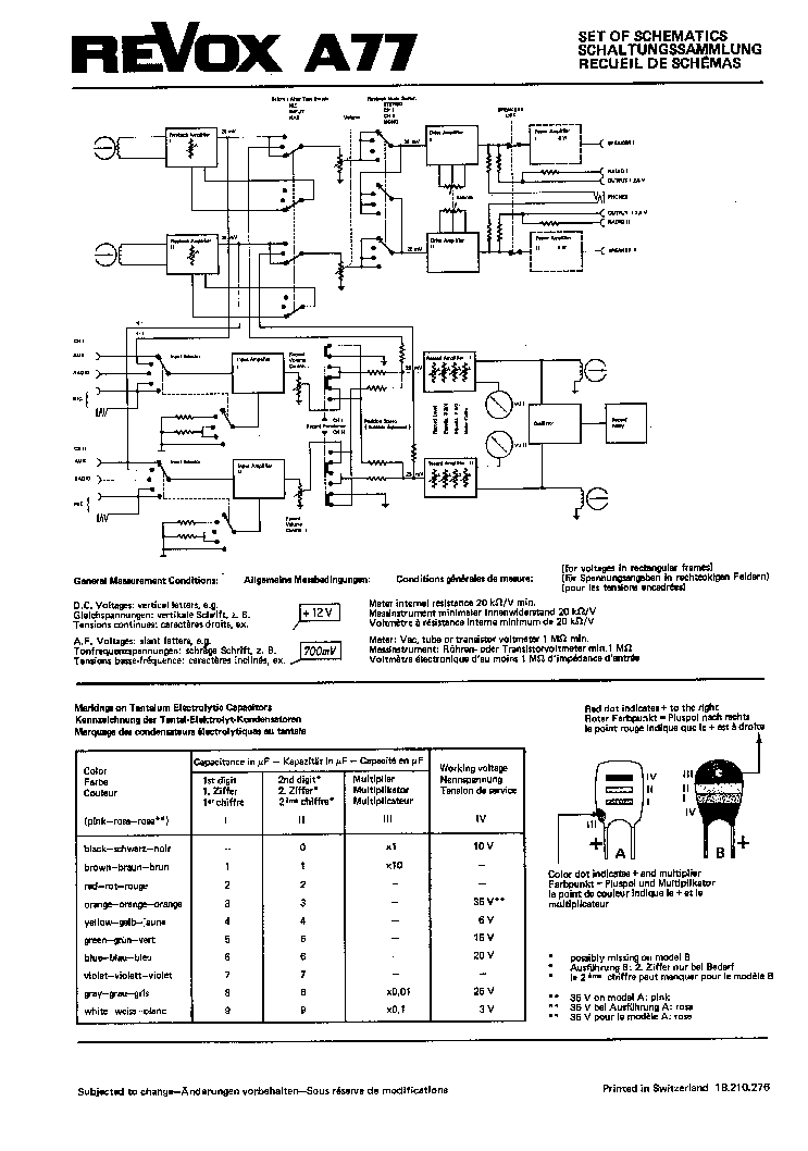 Revox a77 service manual