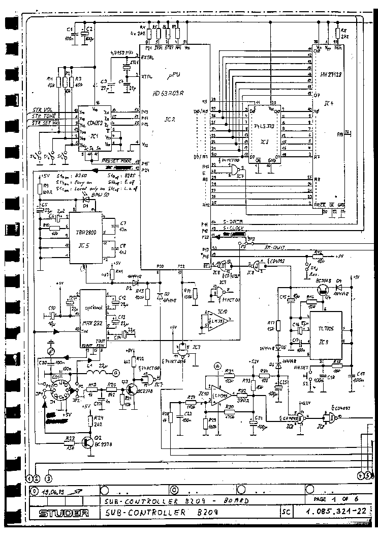 STUDER A80VU MKI SM Service Manual download, schematics