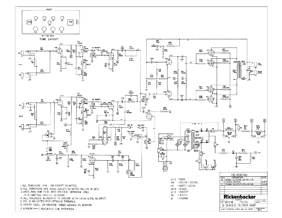 rickenbacker amp schematic kustom amp schematic rickenbacker m8 service manual download, schematics ...