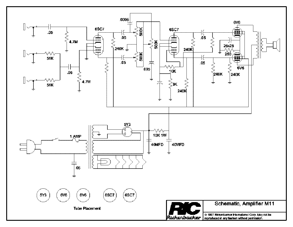 rickenbacker tr35b service manual download, schematics ... harmony amp schematic rickenbacker amp schematic