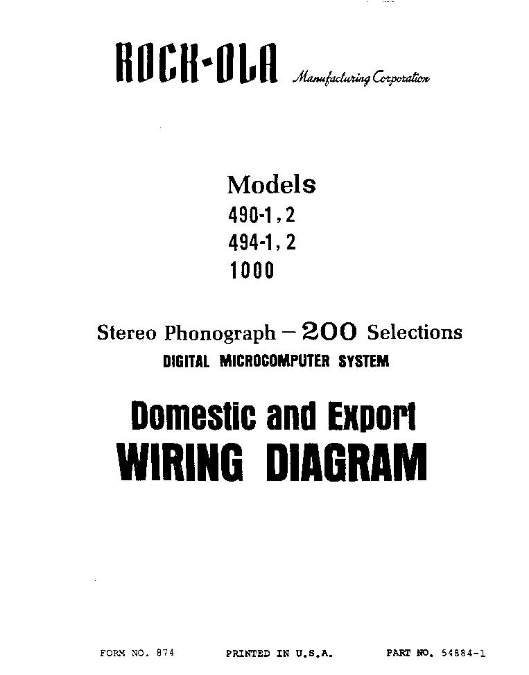 rockola model-490 sch service manual (1st page)
