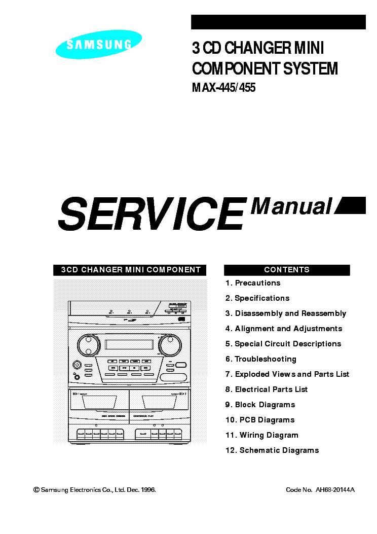 Схема домашнего кинотеатра Other SAMSUNG MAX-670.