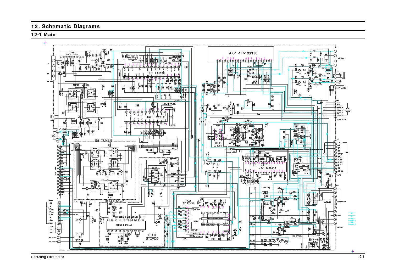 Схема colour tv recor