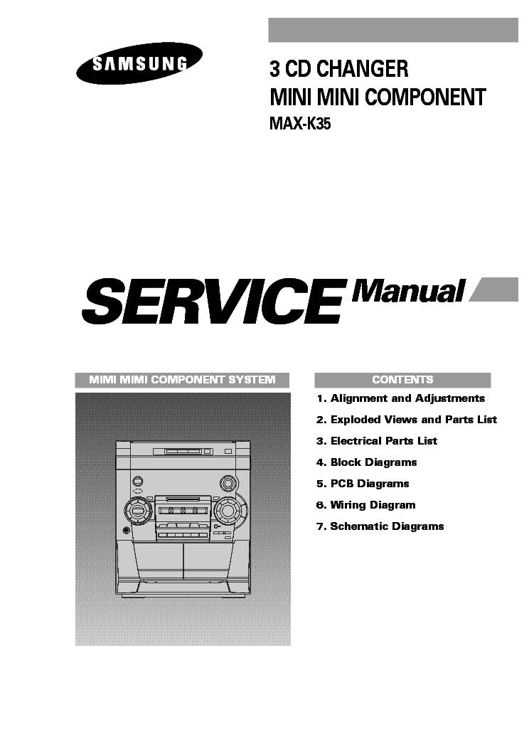 SAMSUNG MAX-K35 PARTS SCH