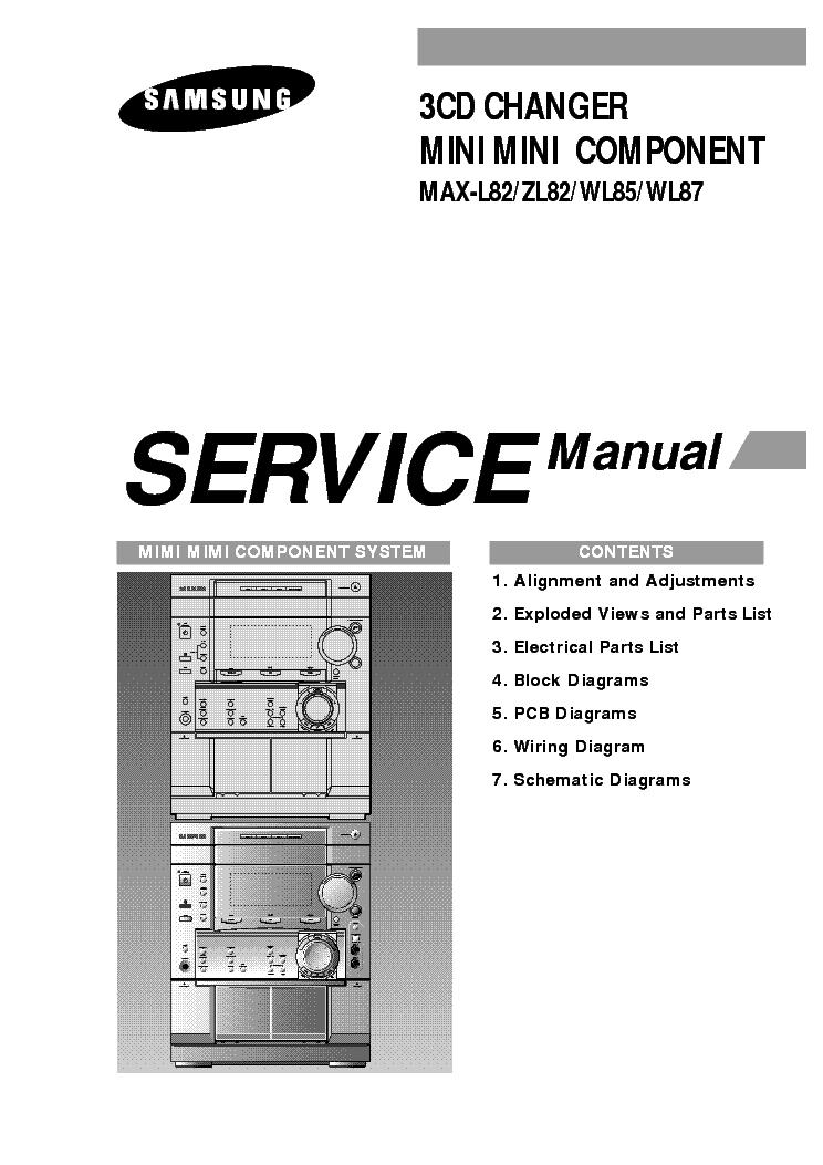 SAMSUNG MAX-L82 ZL82 WL85 WL87